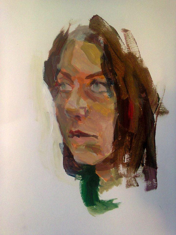 portrait à l'acrylique sur papier réalisé en 25 minutes32,3x49,8cm