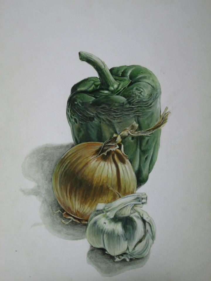 étude de légumes à la gouache N°2