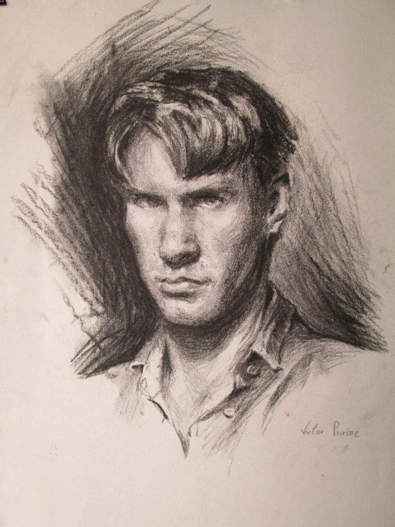 Autoportrait au fusain