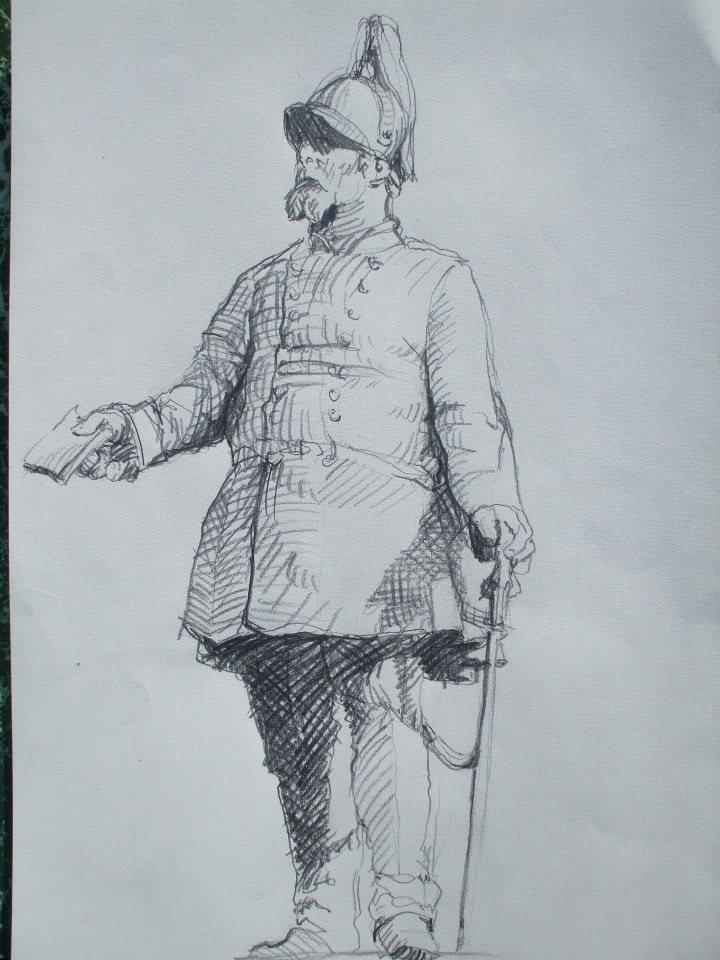 croquis d\'après la statue de Frédéric VII, roi de Danemark