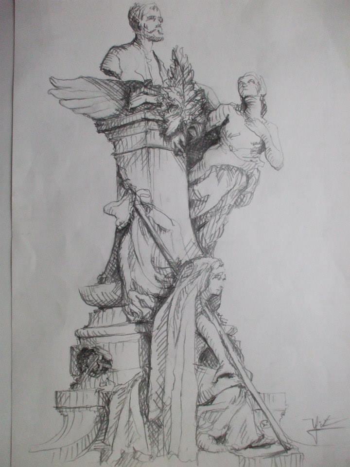 croquis du monument à Carnot