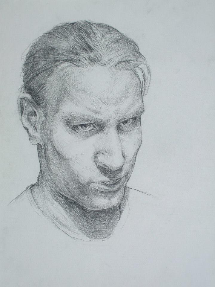Un autoportrait plutôt sombre