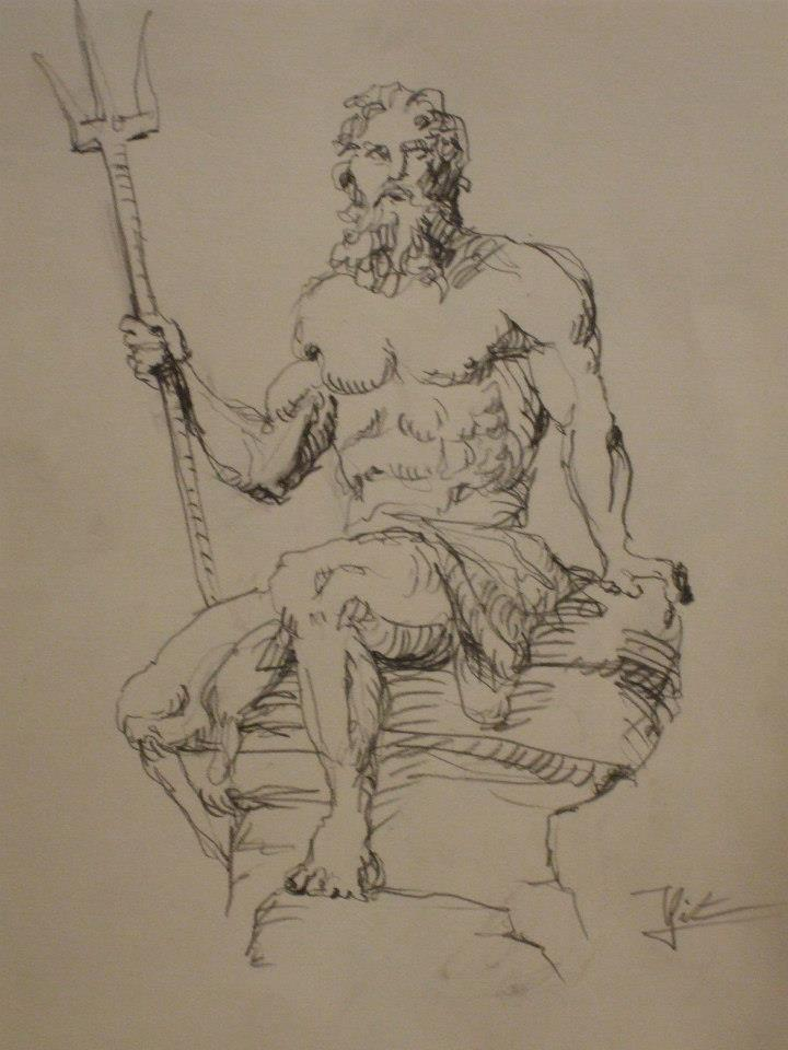 statue de poséidon