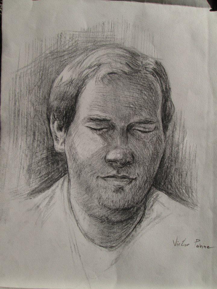 Portrait au fusain de l\'un de mes meilleurs amis