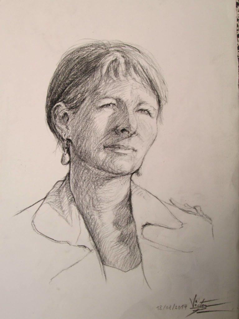 Portrait de ma maman en 45 minutesPierre noire