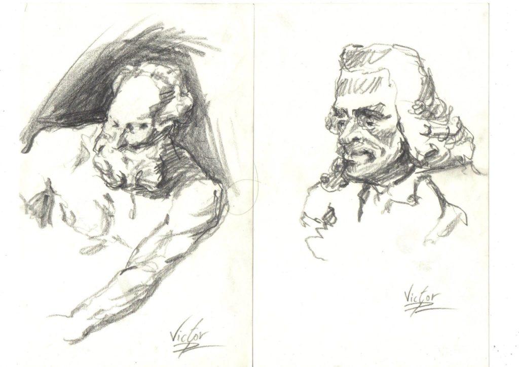 dessins de statue dans le musée Carnavalet