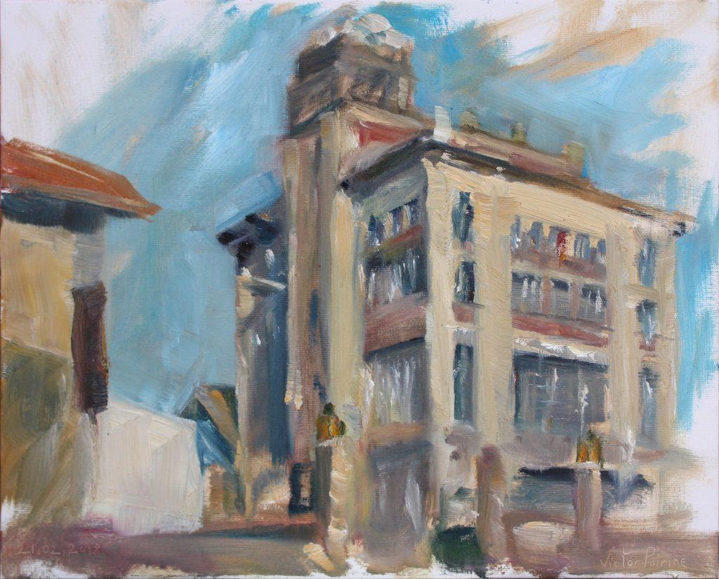 300euros - Musée de la brasserie de Saint-Nicolas-de-Port. Huile sur panneau entoilé. 41x33cm