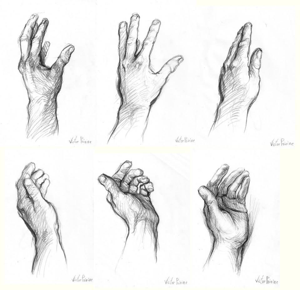 dessins de mains sur des papiers A4