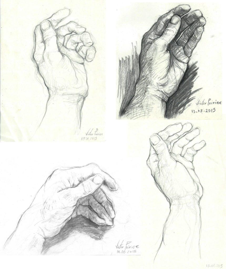 dessins de mains