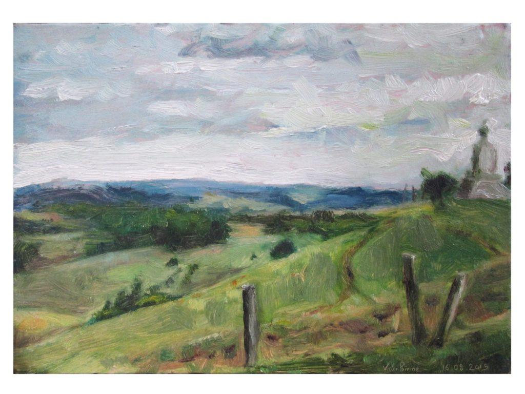 le Léomont, peinture à l'huile sur carton