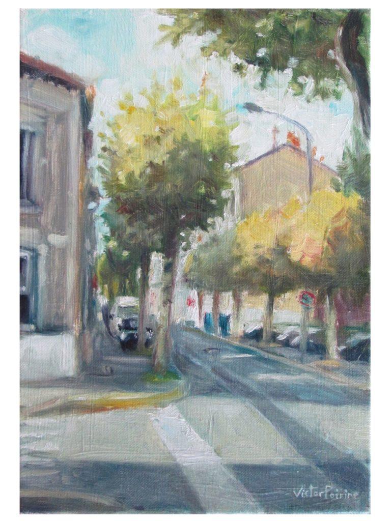 Rue de Seine à Alfortville, huile sur toile22X32,5 cm
