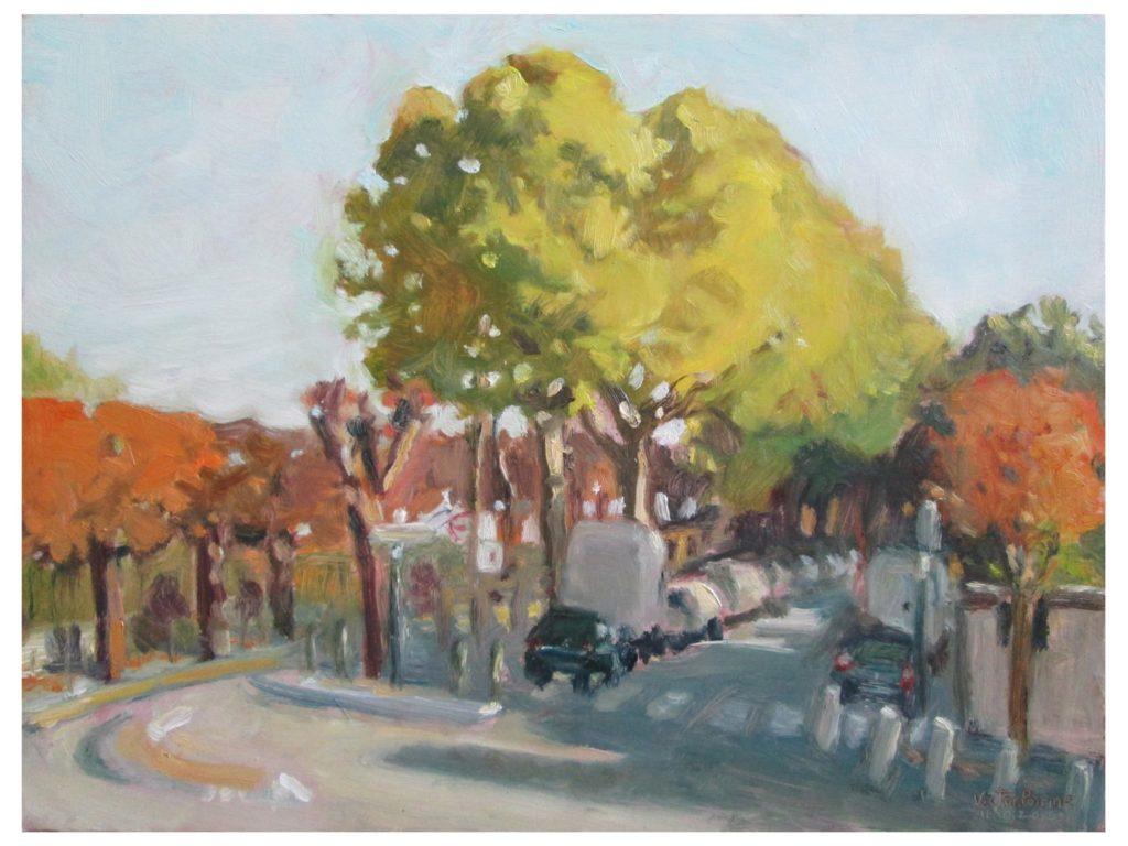 intersection de la rue de Seine et du chemin latéral à Alfortville n°139,3X29,2 cm