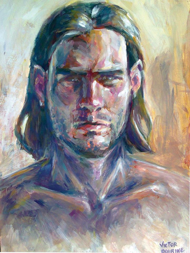 Mon premier autoportrait (gouache) 21x29,7cm