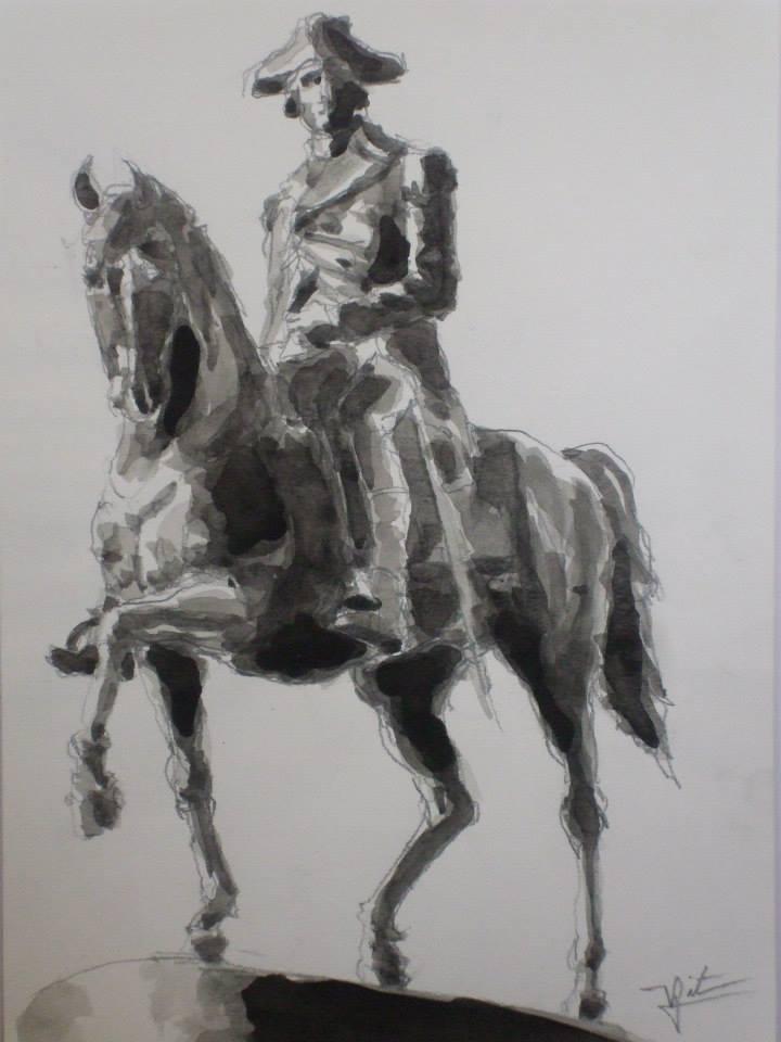 d\'après une statue de George Washington à cheval vendu