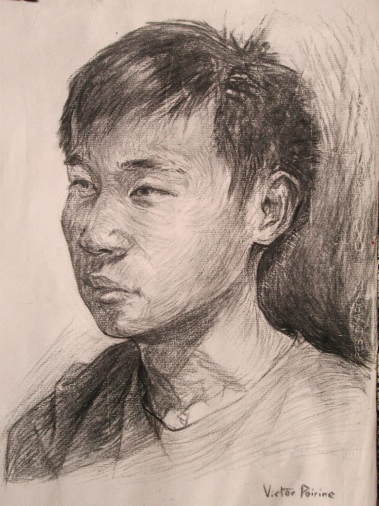 Portrait d\'un ami en 30 minutesFusain