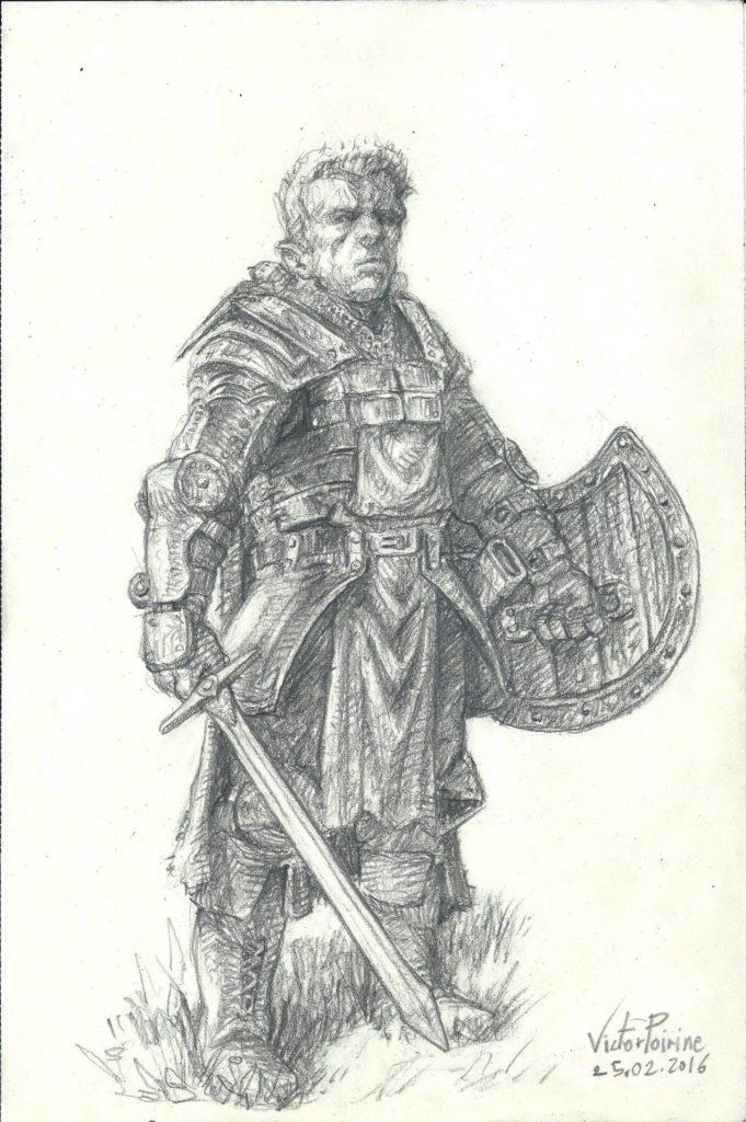 Paladin réalisé pour jouer à Donjon Dragon