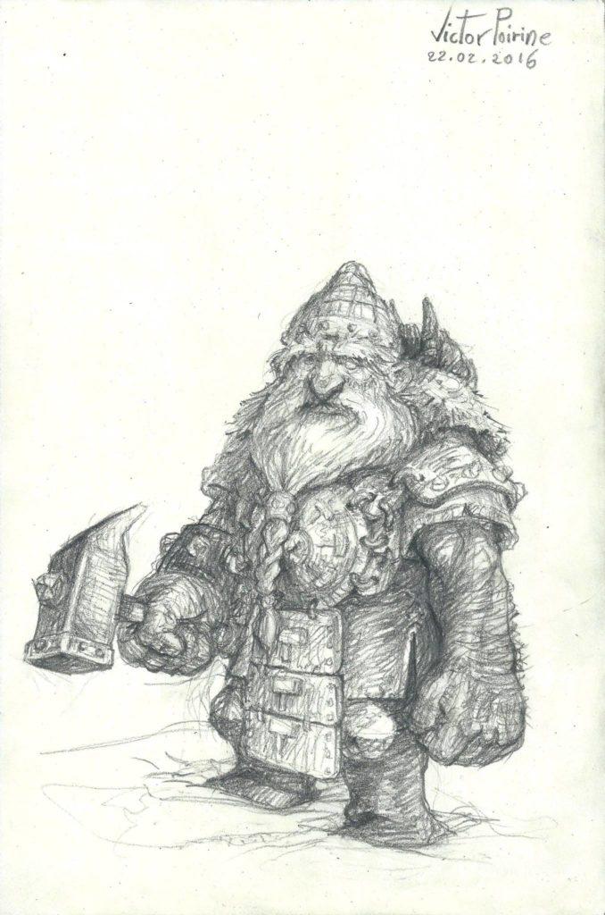 Nain réalisé pour jouer à Donjon Dragon