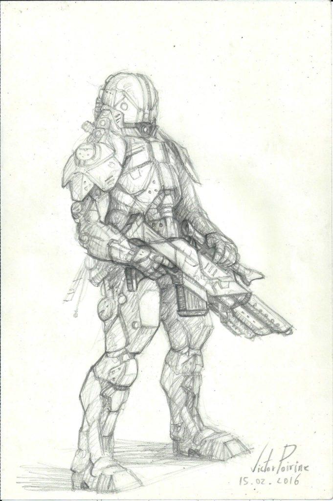 150 euros - soldat en exo armure. A4