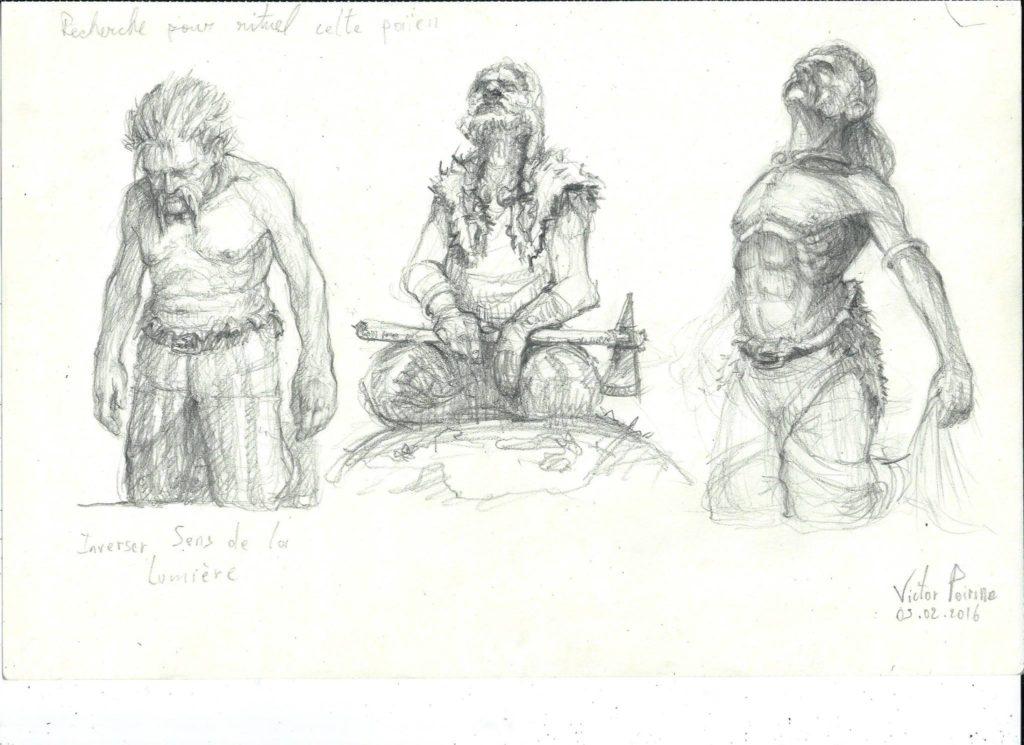 120euros - recherches sur des celtes pour une illustration. A4