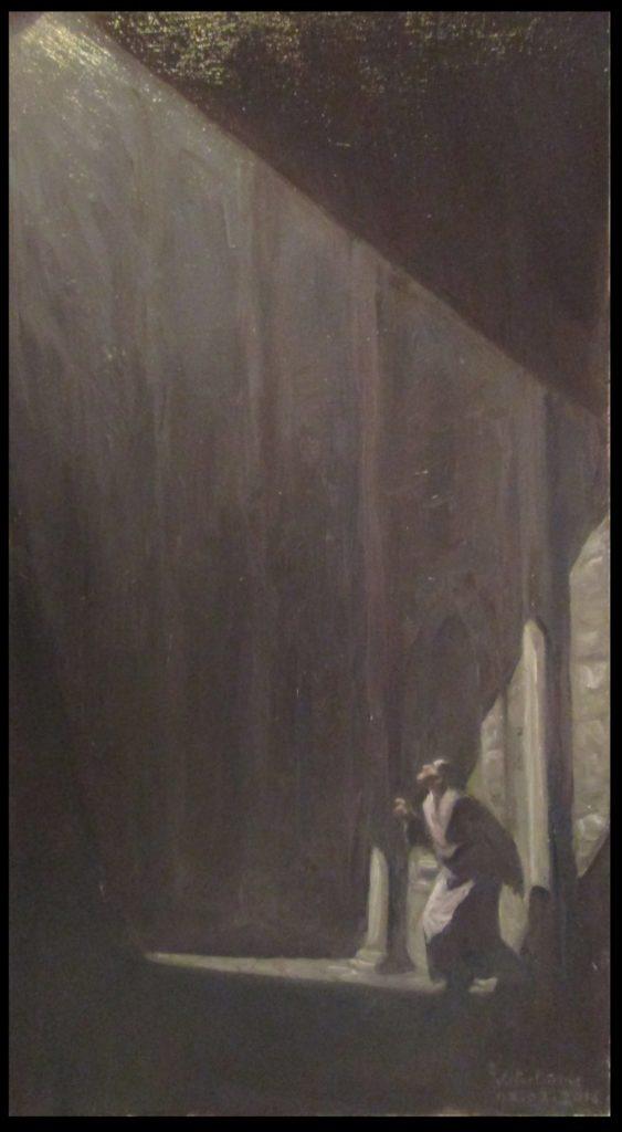 1800euros - illumination mystérieusehuile sur panneau, 17X31,5cm