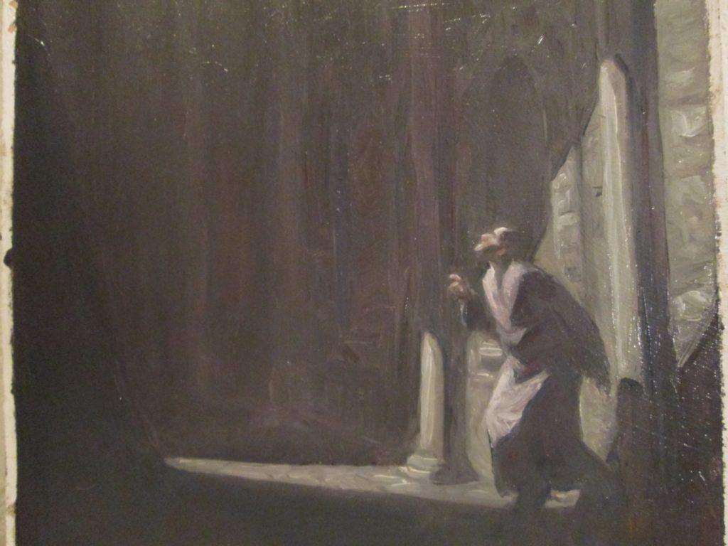 1800euros - illumination mystérieusehuile sur panneau, 17X31,5cmzoom