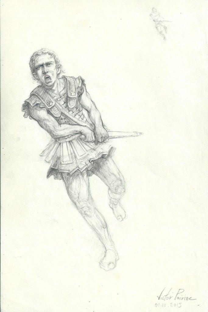 160euros -  Un guerrier grec en jupette