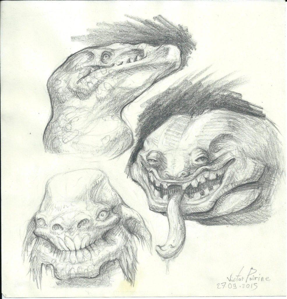 120euros - têtes de monstres