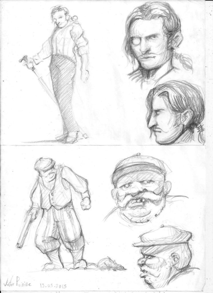 deux recherches de personnages