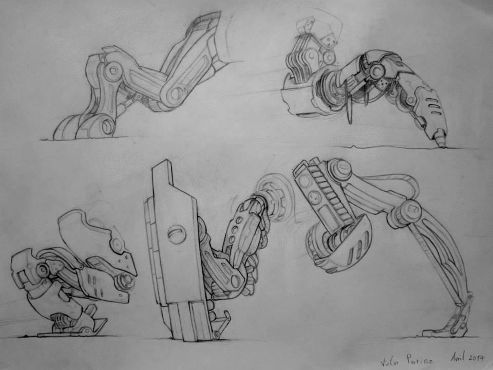pattes méchaniques