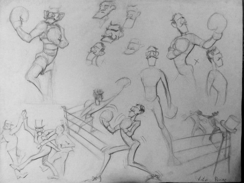 Recherche de character design de boxer