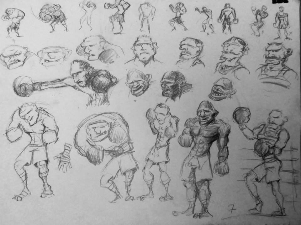 Recherche de charcter design de boxer