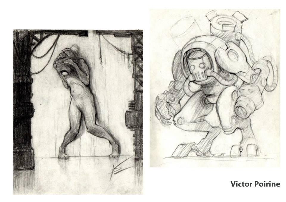 50euros chacun - 2 petits dessins de personnages