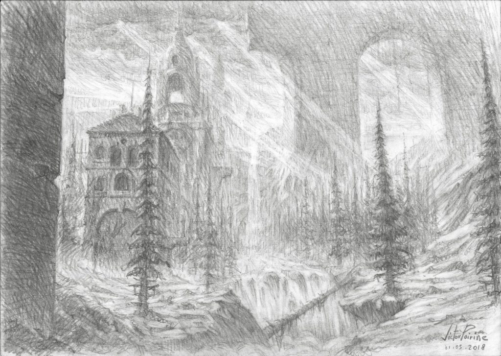 Ruines abandonnée dans la nature