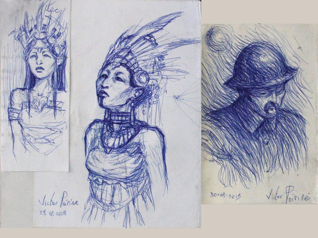 Non disponible car lié à un carnet - une princecce pré-colombienne et un soldat français de 1918 dans mon carnet de recherche