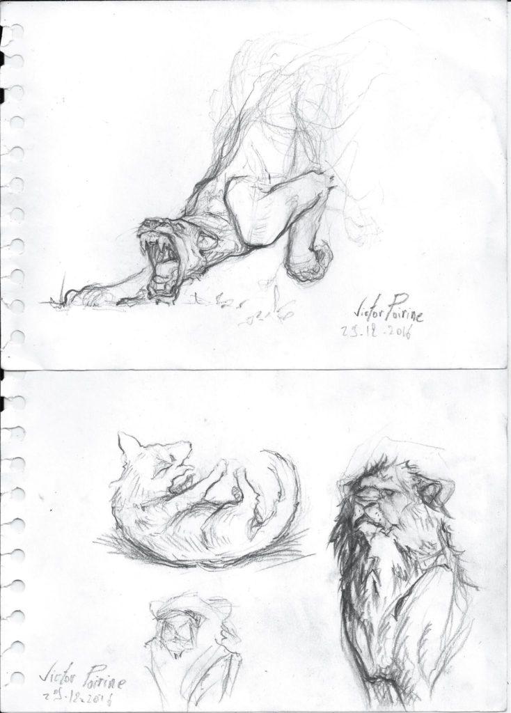 petits dessins pour me remettre en jambe