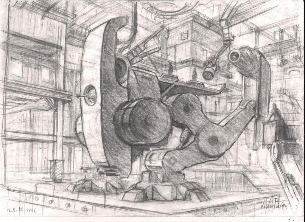 220 euros - recherche pour la peinture d\'un robot A4