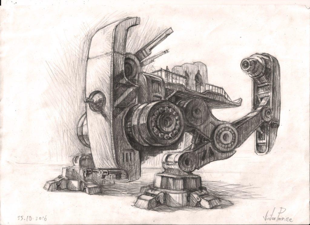 150 euros - recherche pour la peinture d\'un robot. A4