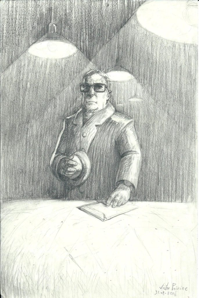 petit dessin dans mon carnet d'un homme qui fait des affaires ...