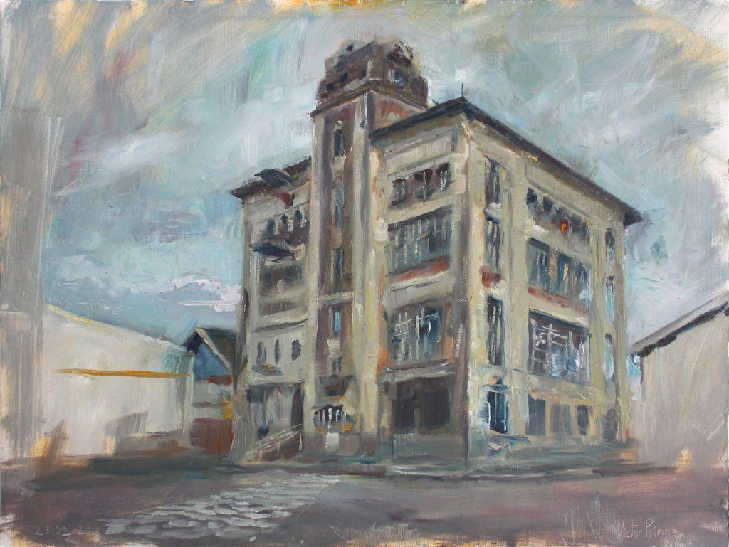 Musée de la brasserie à Saint-Nicolas-de-Port. huile sur papier toile, 48x36 cm