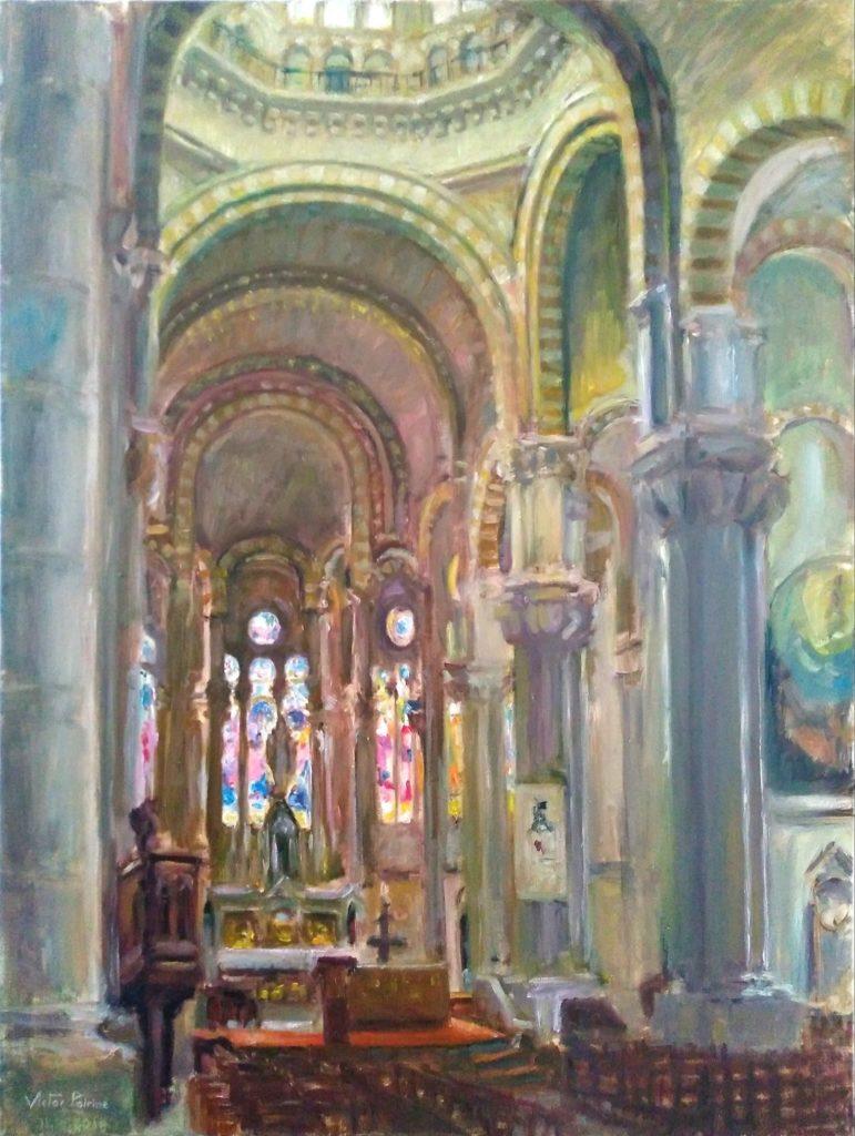 Peinture réalisée dans le sacré cœur de Nancy pour une commande. Huile sur toile 60x80cm
