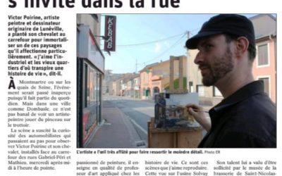 L'Est Républicain pour Dombasle : Avec Victor Poirine, l'art s'invite dans la rue