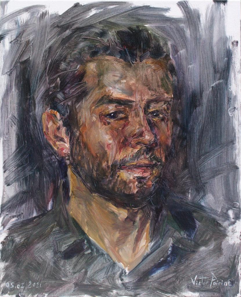 Jean Patrick, portrait à l'huile sur panneau entoilé de 24x30cm. Non disponible. 05.02.2021
