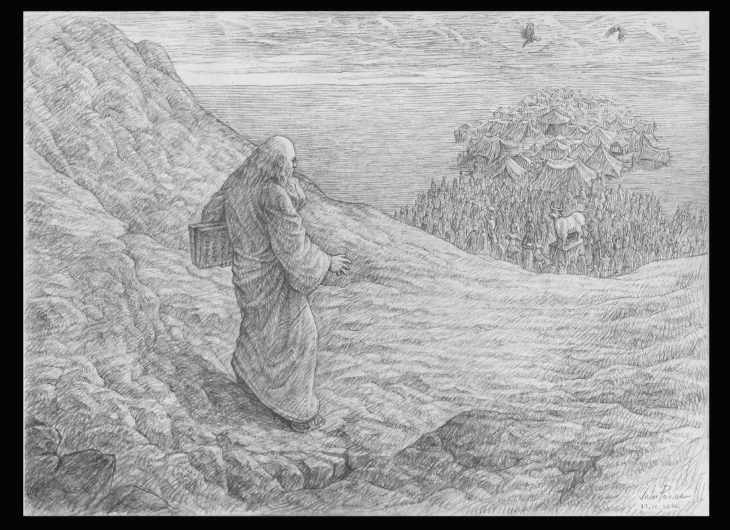 1200euros - Moïse redescend du mont Sinaï. A3
