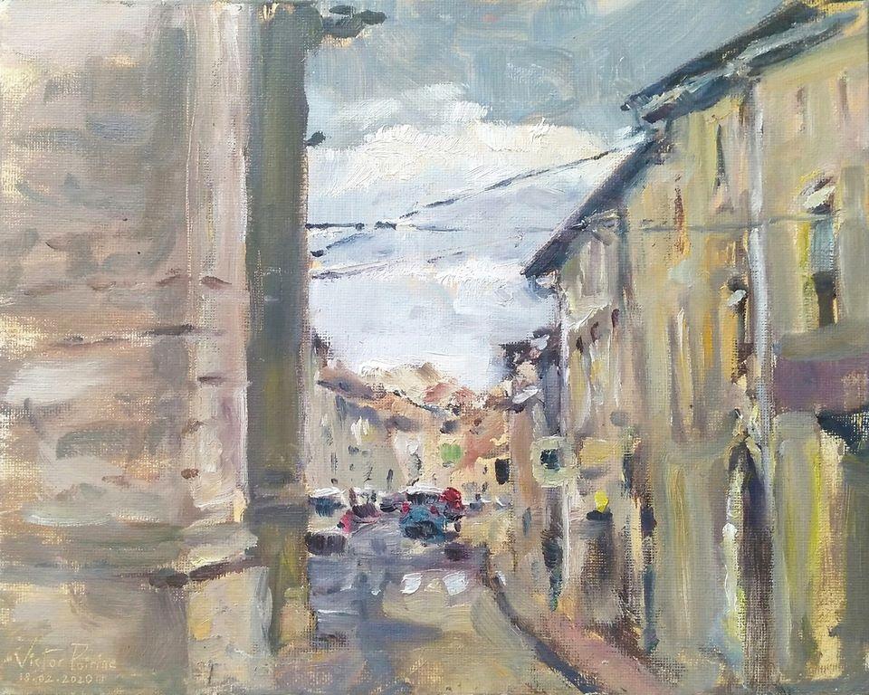 Rue Anatole France N2. Peinture à l\'huile sur toile de 27X22cm