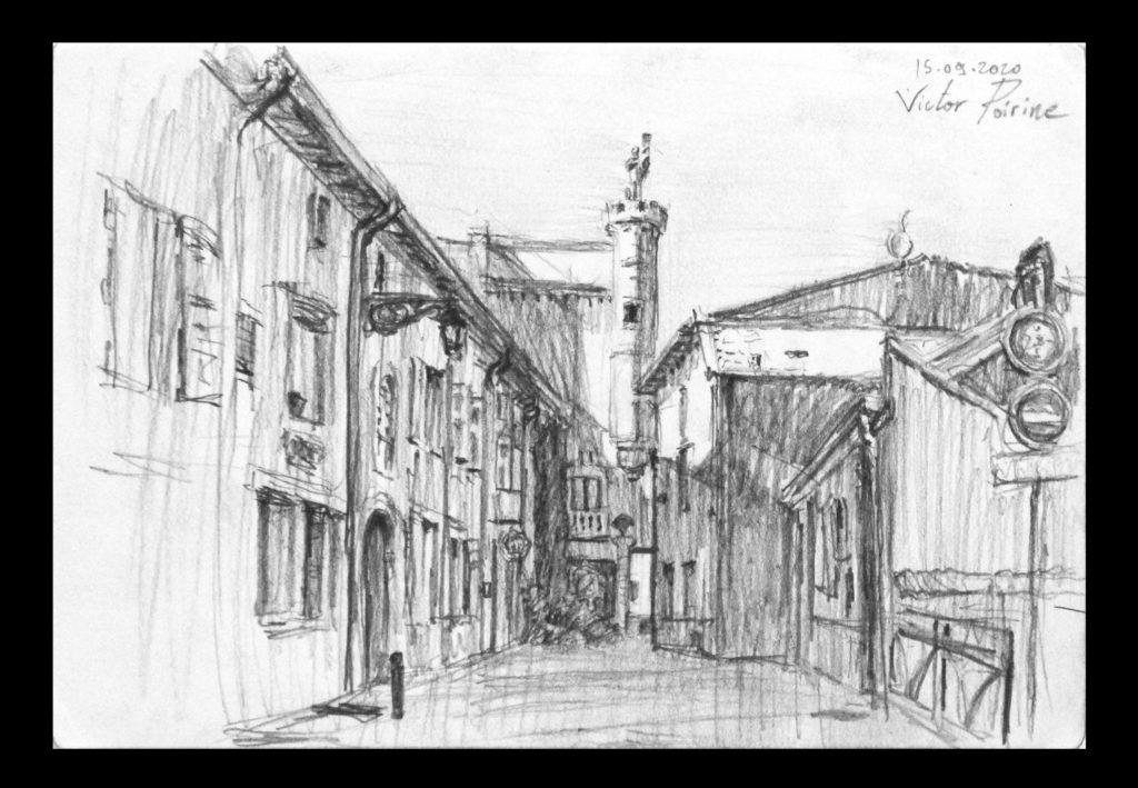 120euros - Tour Jeanne d\'Arc de la Rue des Bénédictins. Inférieur au A4