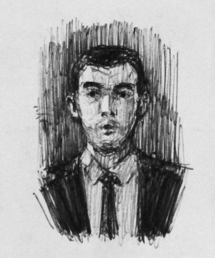 10euros - portrait Gregoire au stylo septembre 2020