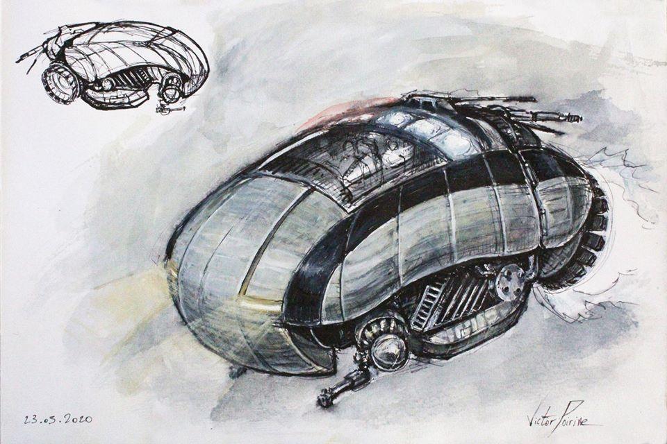 recherche N2 pour un vaisseau dans mon carnet sur les éléments mécaniques