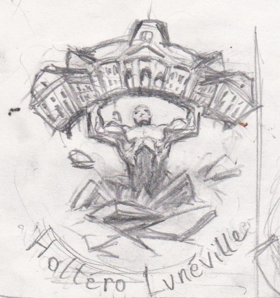 Non disponible - recherche non retenue pour un logo destiné à représenter la fédération de force de Lunéville. 2020